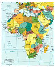 Africa detailled map